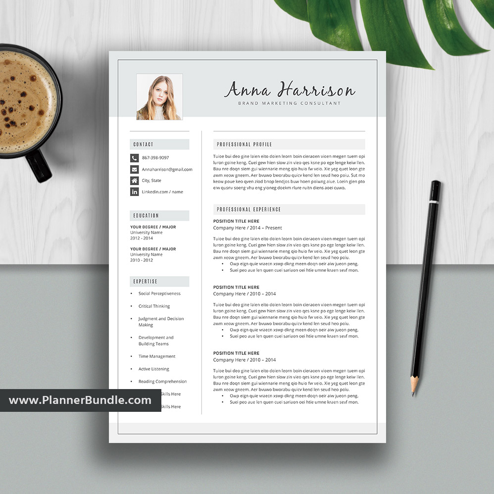 Simple Resume Template Word Job Cv Template Design Creative And Modern Resume Cover Letter Instant Download For 2019 2020 Professionals Anna