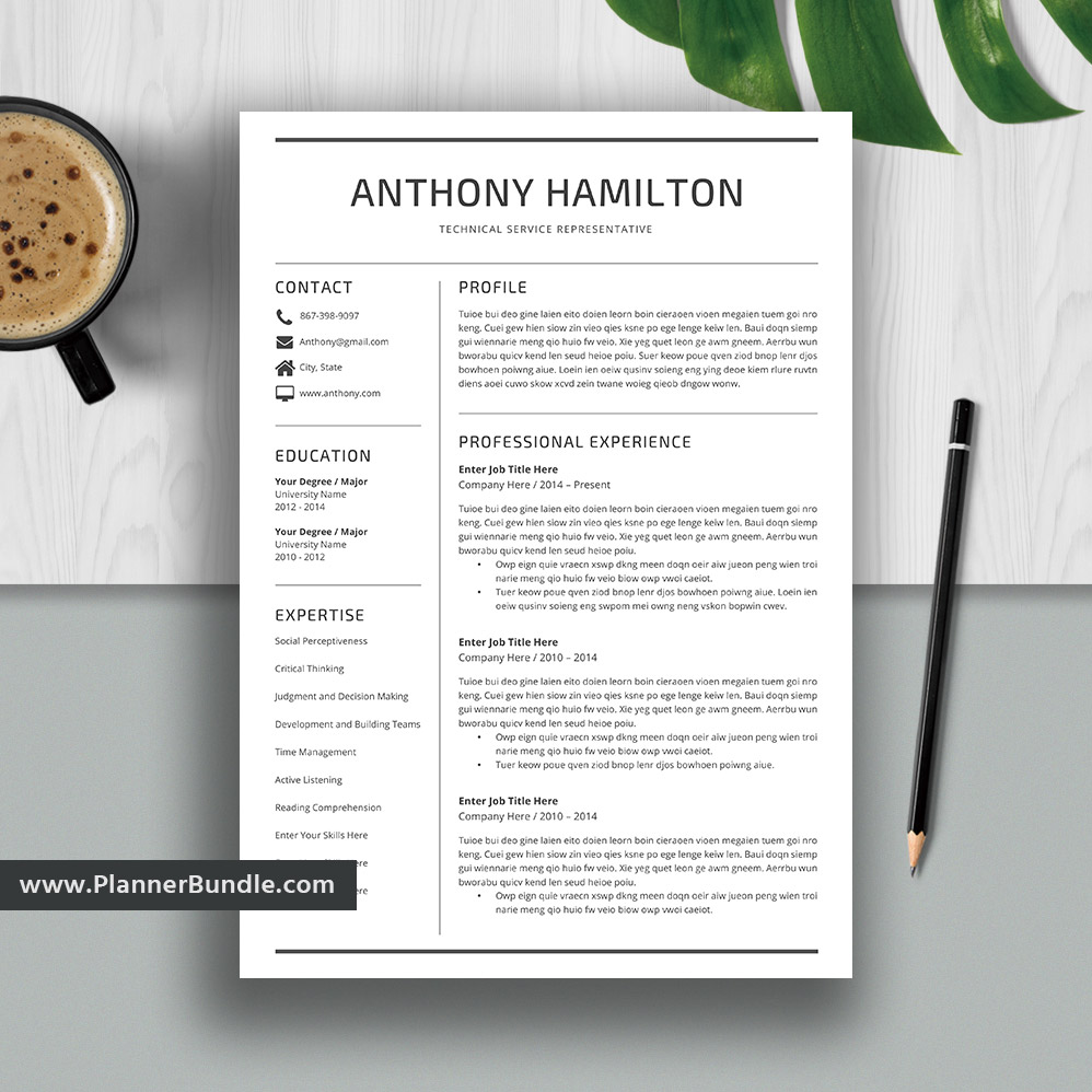 professional resume template cv word resume bundle creative