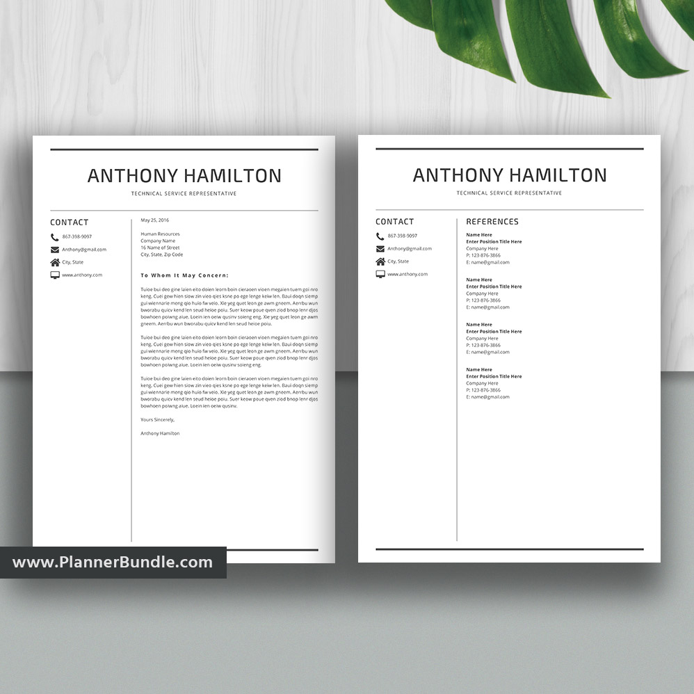Resume Templates2020 Student Resume Templates Cv Word Resume Bundle Creative Modern Resume Design Cover Letter Instant Download The Anthony