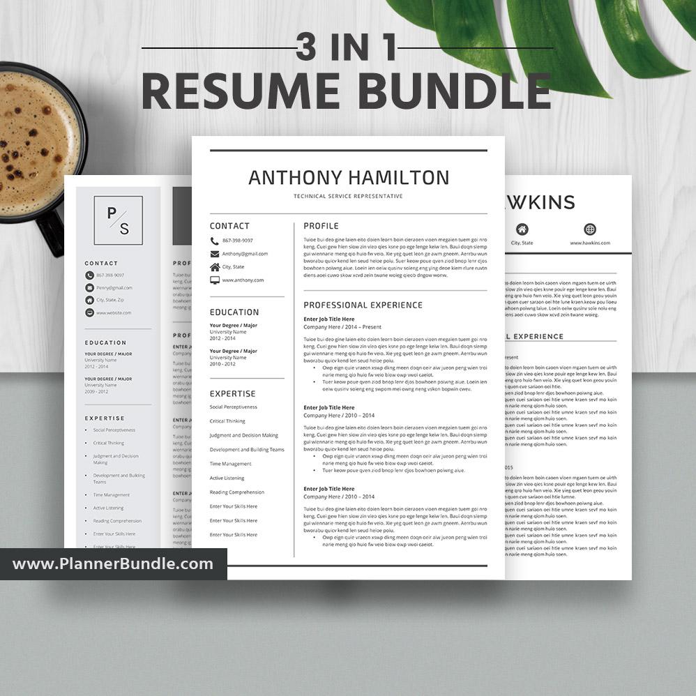 2019 resume templates  student resume templates  cv  word resume bundle  creative  u0026 modern