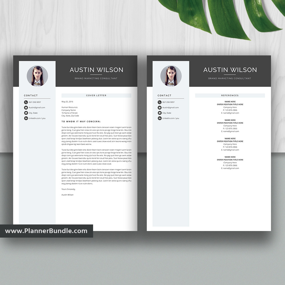 Modern And Professional Resume Template For Ms Word Cover Letter Job Cv Template Word Resume Editable Resume Creative Resume Design Instant