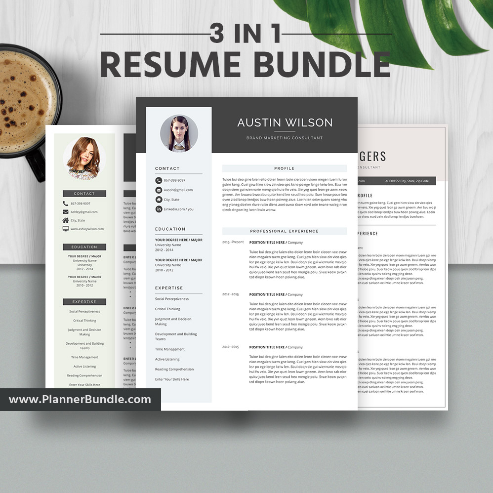 2019 resume templates professional resume bundle cover letter cv