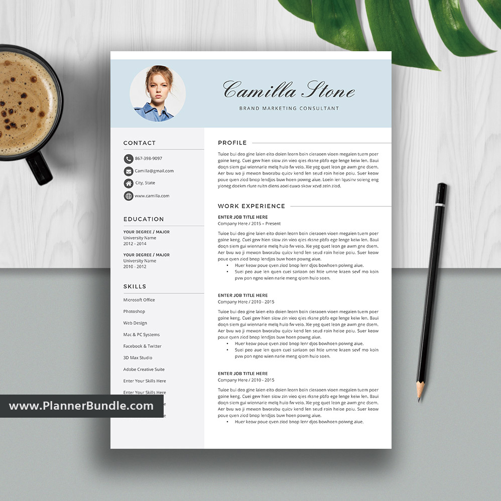 simpleresume template word  job cv template design  creative and modern resume  cover letter