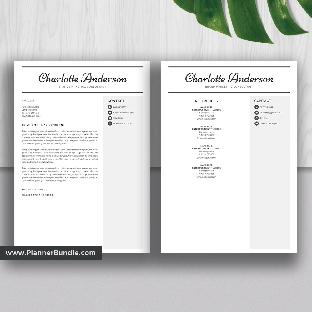 Editable Resume Template Professional And Modern Cv Template