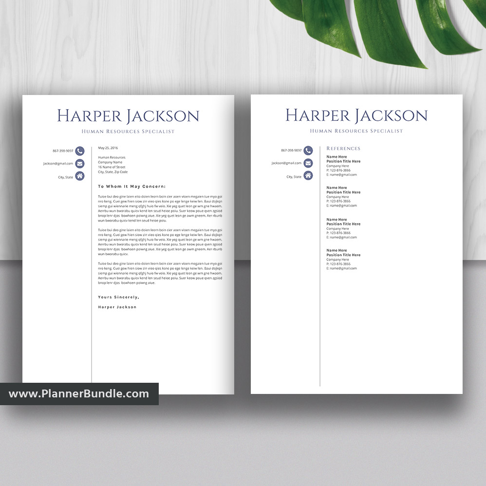 Simple Resume Template And Cover Letter Basic Cv Template