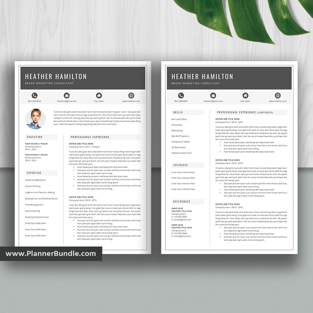 2019 resume templates  resume bundle  cv template  ms word  professional resume bundle  creative