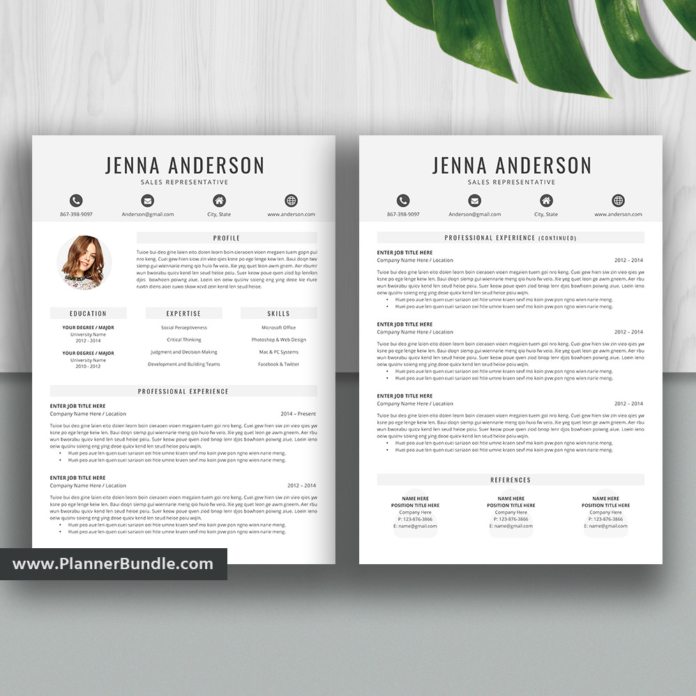 Editable Resume Template Curriculum Vitae Modern Cv Layout Professional Resume Design Word Resume Teacher Resume Cover Letter Instant Download