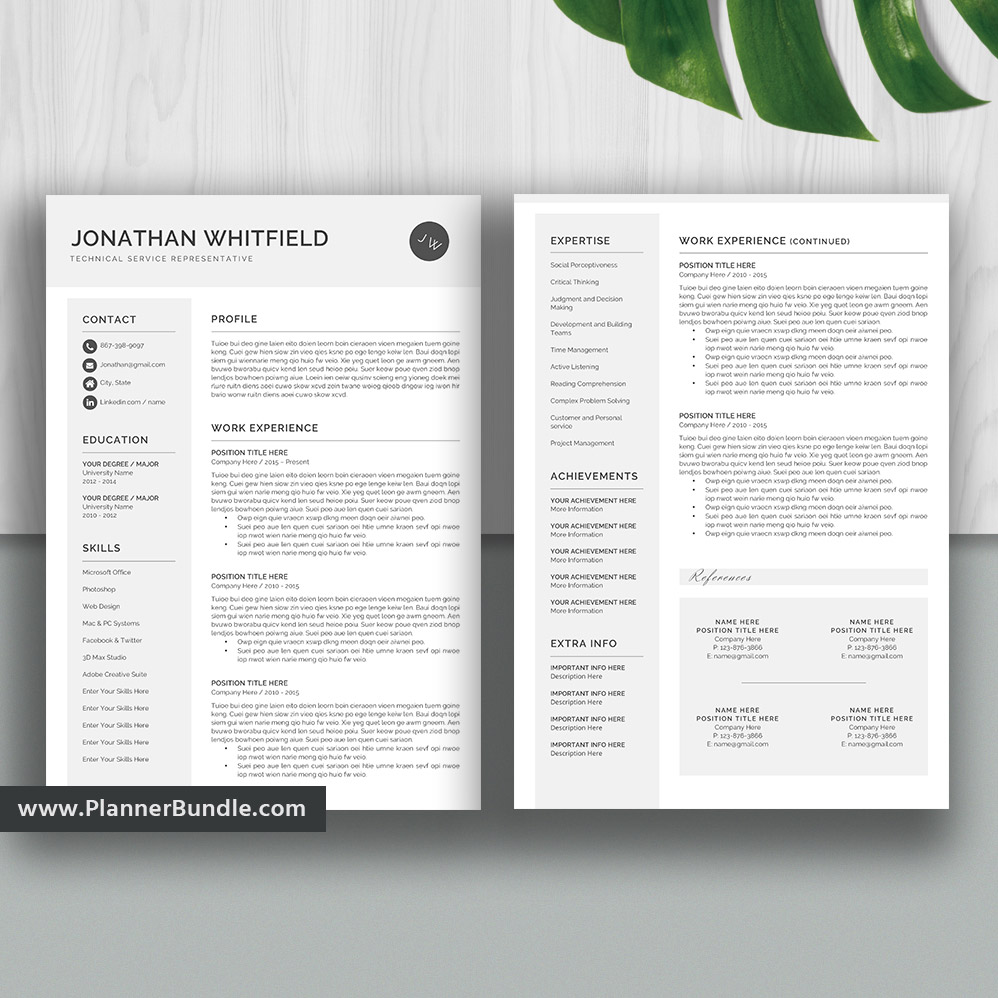 professional resume template word  job cv template