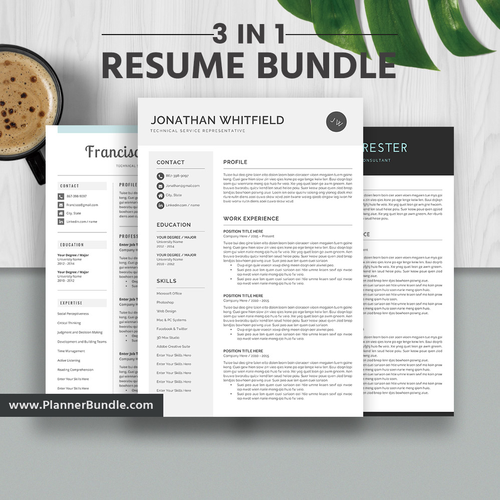 2019 Resume Templates Professional Resume Bundle 3 Page Cover Letter Cv Template Word Creative Modern Resume Instant Download The Jonathan Rb