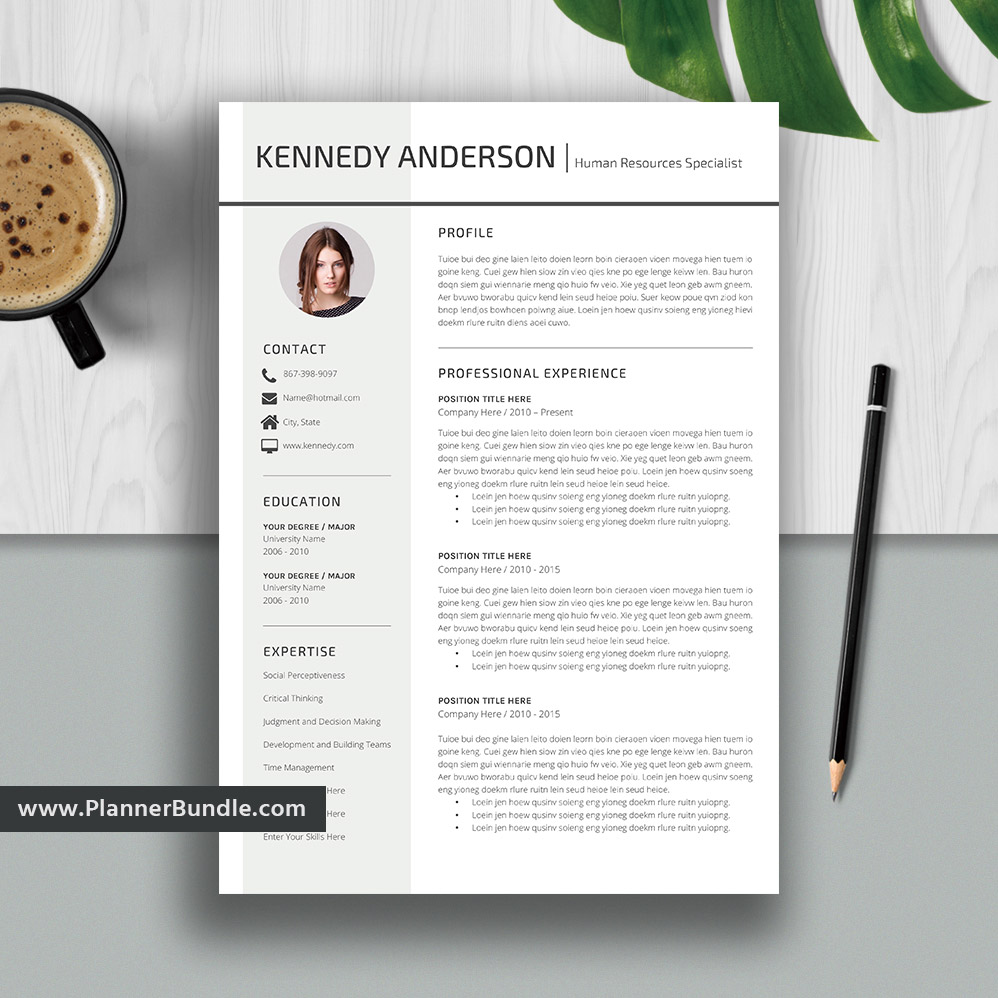 Simple Resume Template, Modern CV Template, Best Word Resume, Creative &  Professional Resume Design, Cover Letter, Instant Download: Kennedy