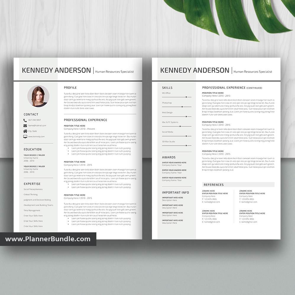 Modern Resume Template Simple Cv Template Ms Word Resume Creative And Professional Resume Design Teacher Resume Cover Letter Instant Download