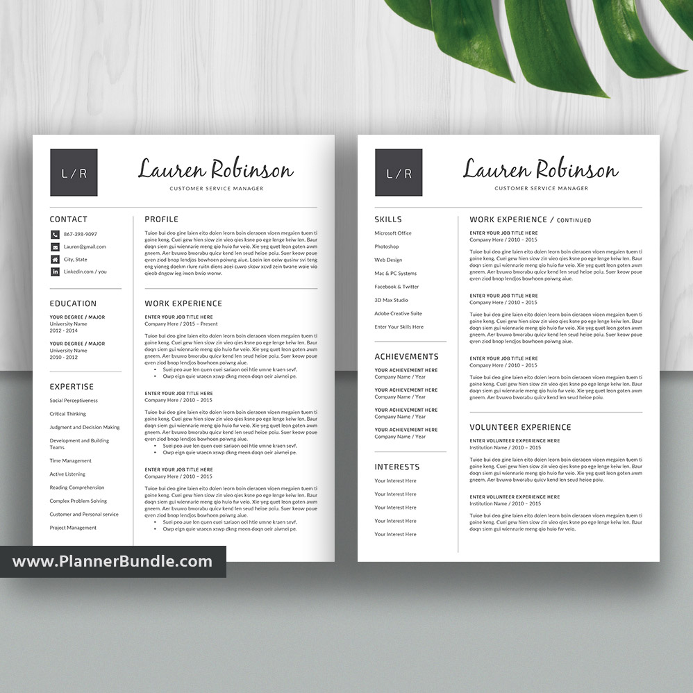 Resume Template Word 2020, Basic CV Template, 1, 2, 3 Page Resume, Simple  CV Template Design, Professional Resume, Cover Letter, Instant Download: ...