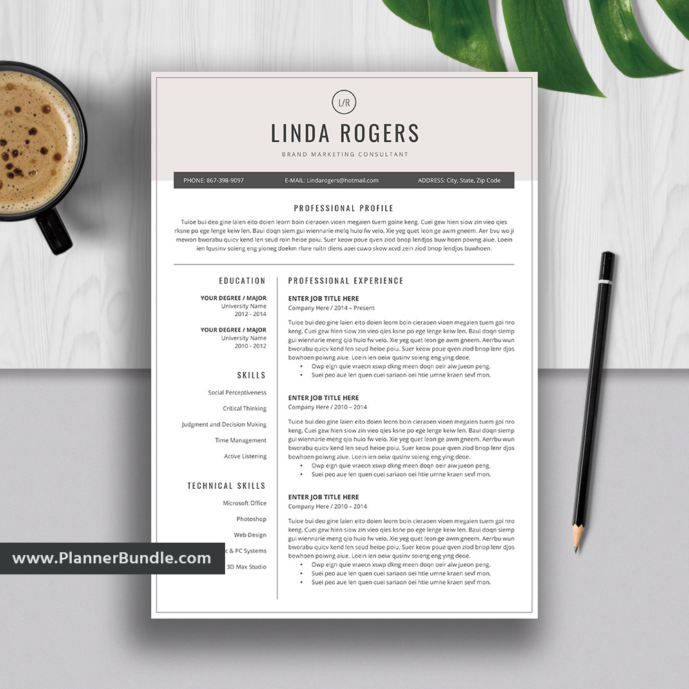 2019 resume templates  professional resume bundle  cover