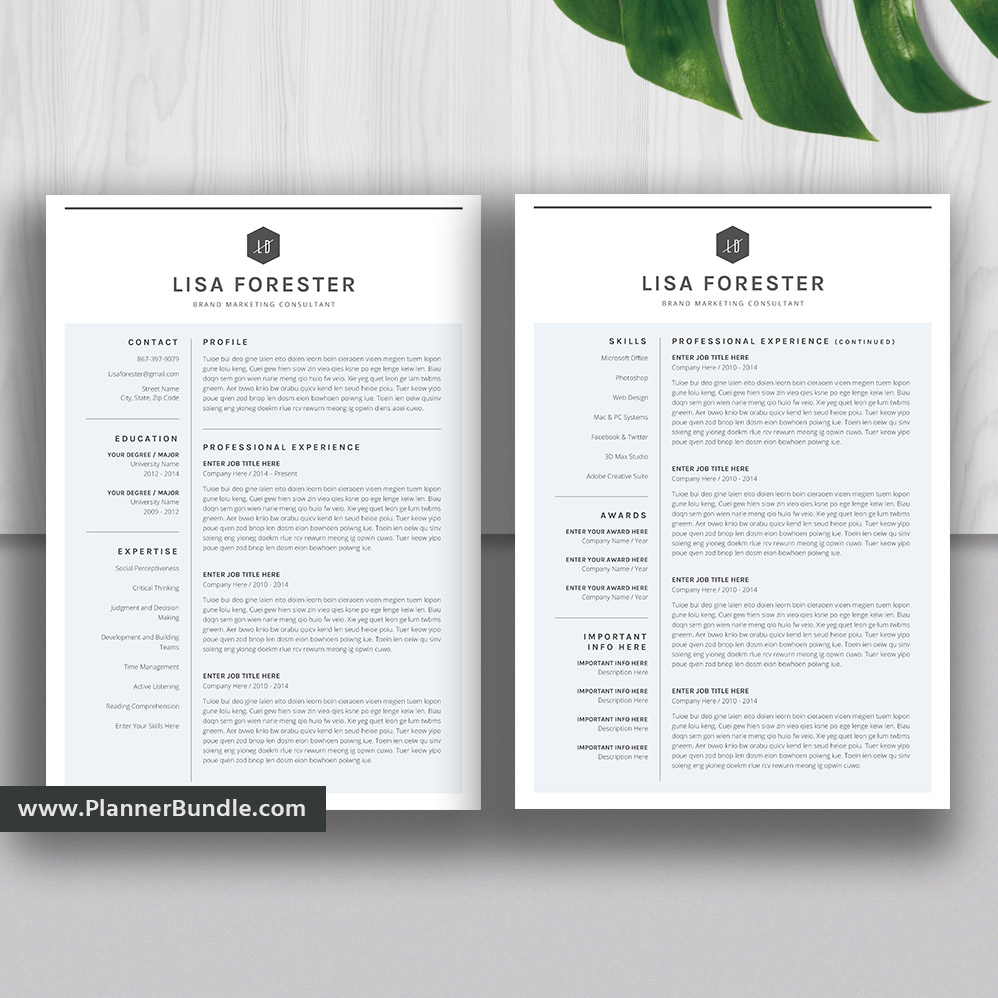 Simple And Unique Resume Template Word Resume Modern Cv Template