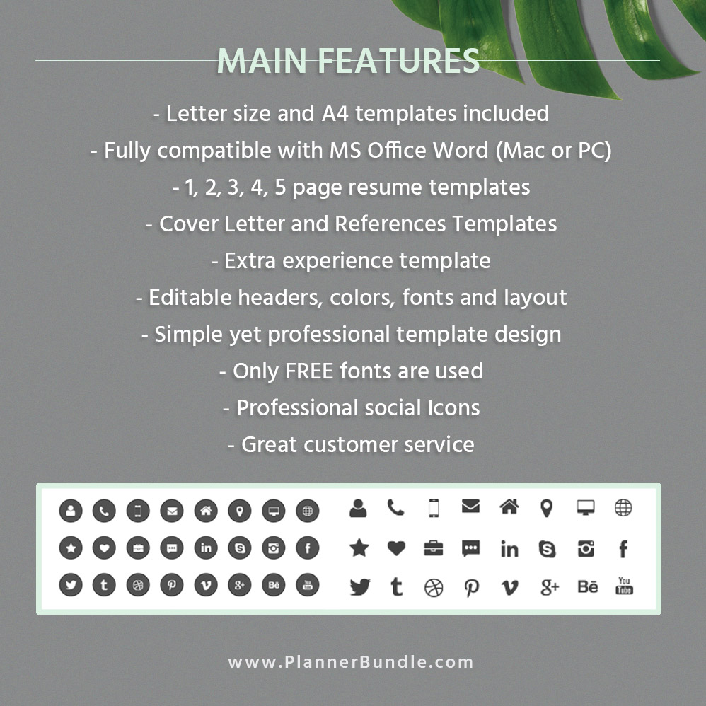 Modern And Unique Resume Template For Ms Word Cv Template Professional Resume Design 2020 College Students Interns Fresh Graduates