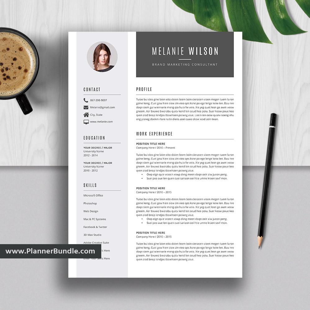 Editable Resume Template 2020, Curriculum Vitae, Modern CV Layout, Best  Resume, Word Resume Design, Cover Letter, Instant Download: Melanie