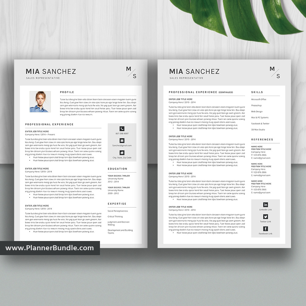 Editable Modern Resume Template Job Cv Template Professional Resume Design Word Resume 2020 College Students Interns Fresh Graduates