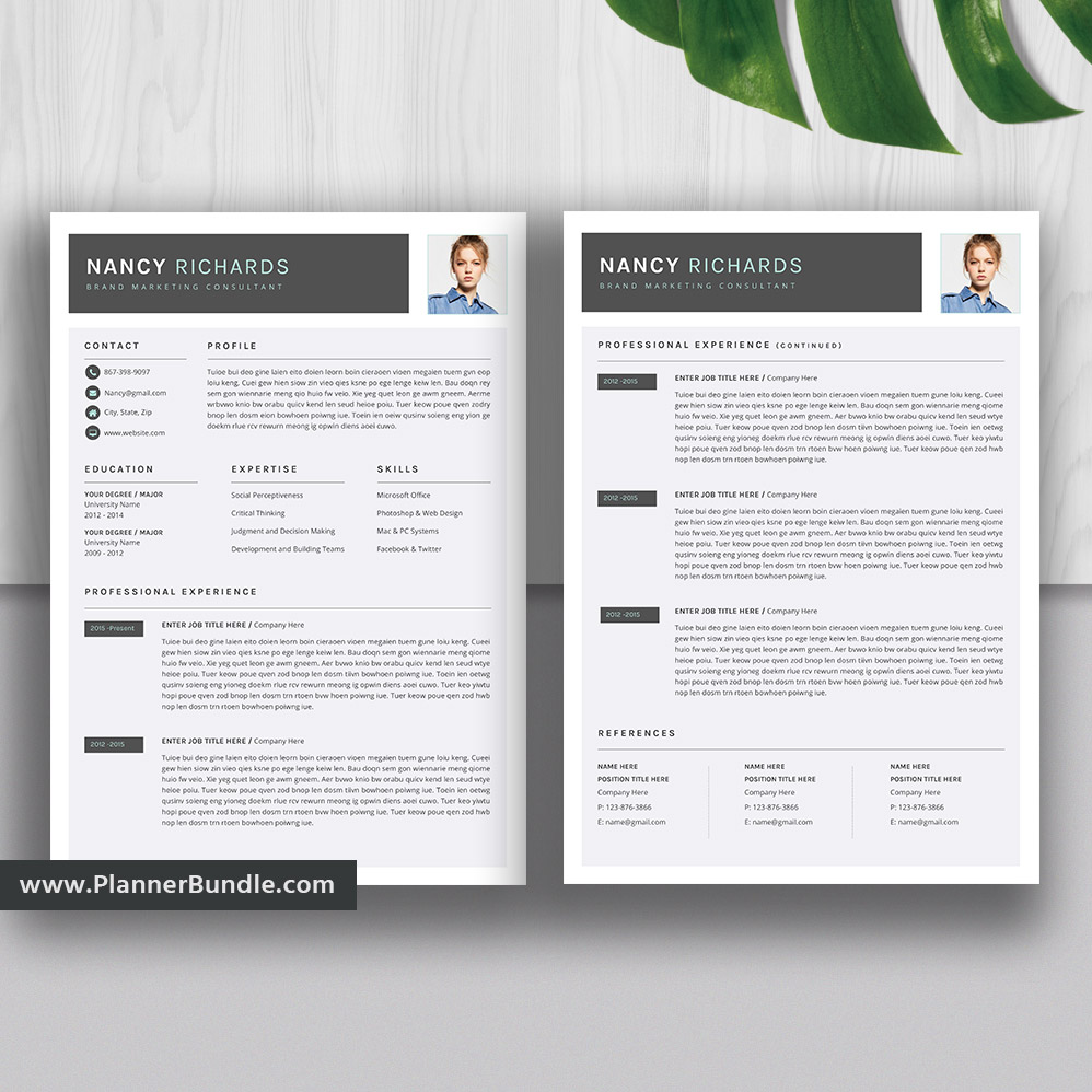 Best Resume Templates 2020.Best Resume Template Word Editable Cv Template Design 2020 College Students Interns Fresh Graduates Professionals And Stay At Home Moms Nancy