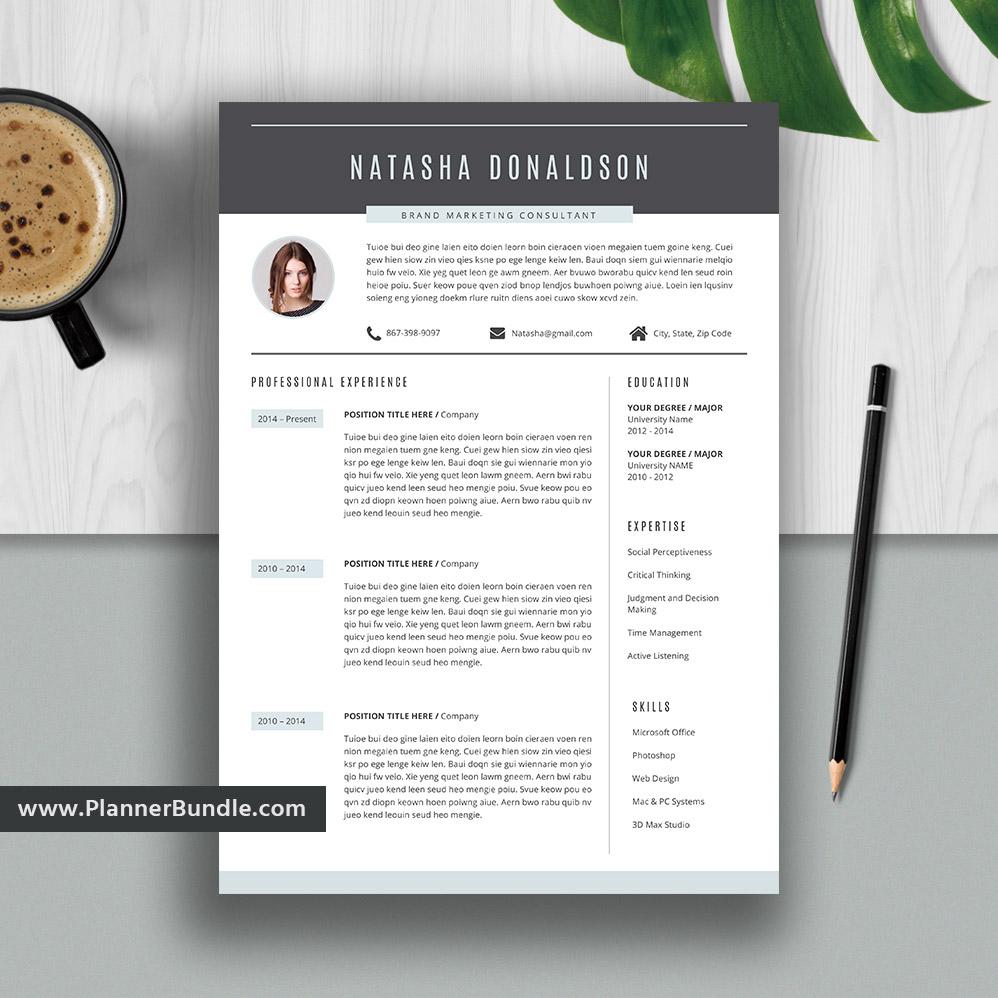 Editable Modern Resume Template Job Winning Cv Template