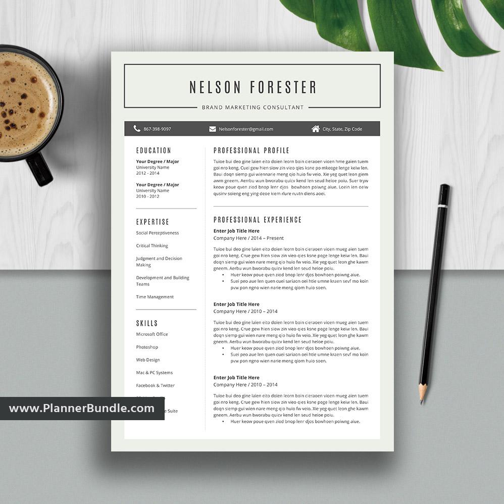 modern resume template word  editable cv template design professional college students resume