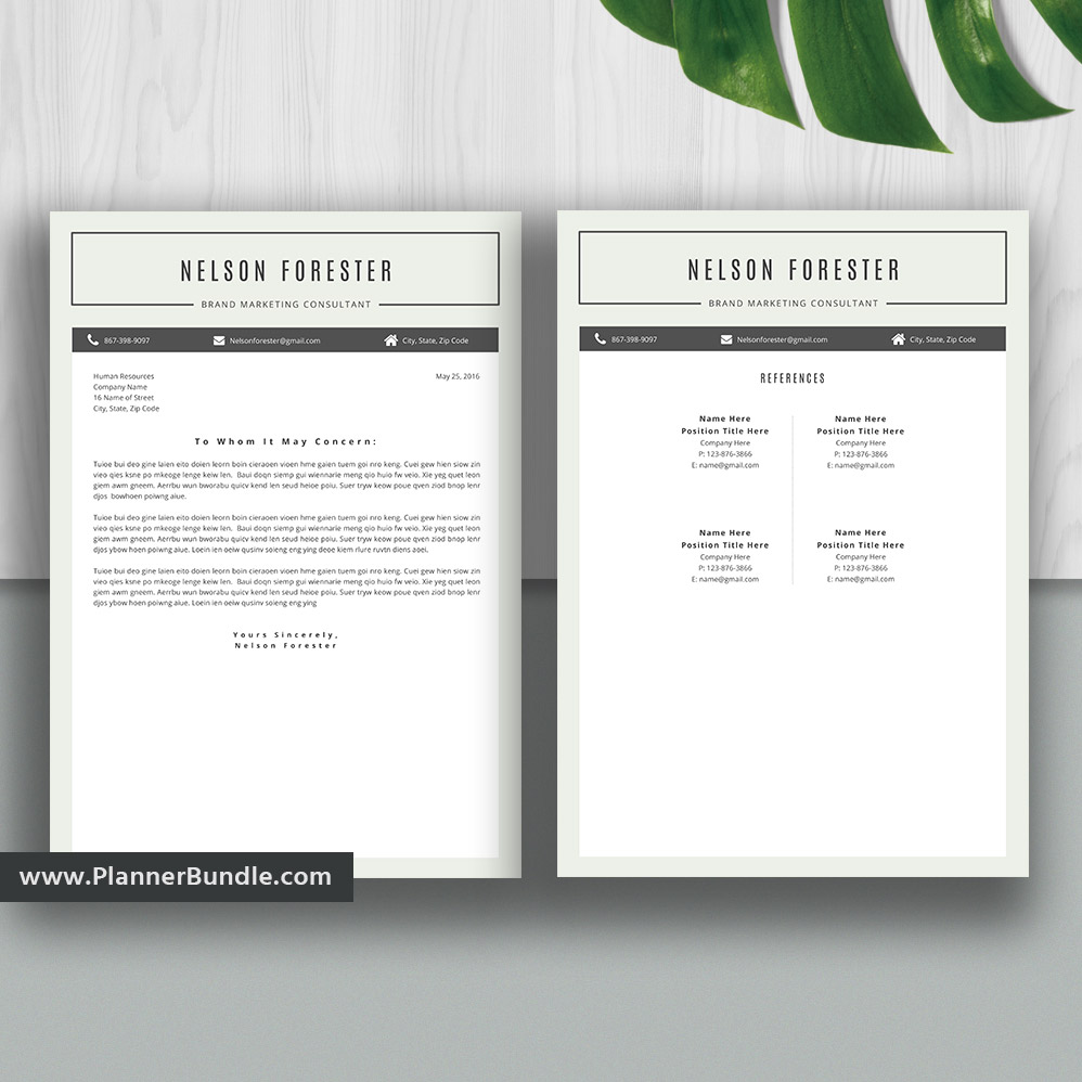 Professional Resume Template Bundle Cover Letter Cv: Resume Templates 2020, Modern Resume Bundle, CV Template