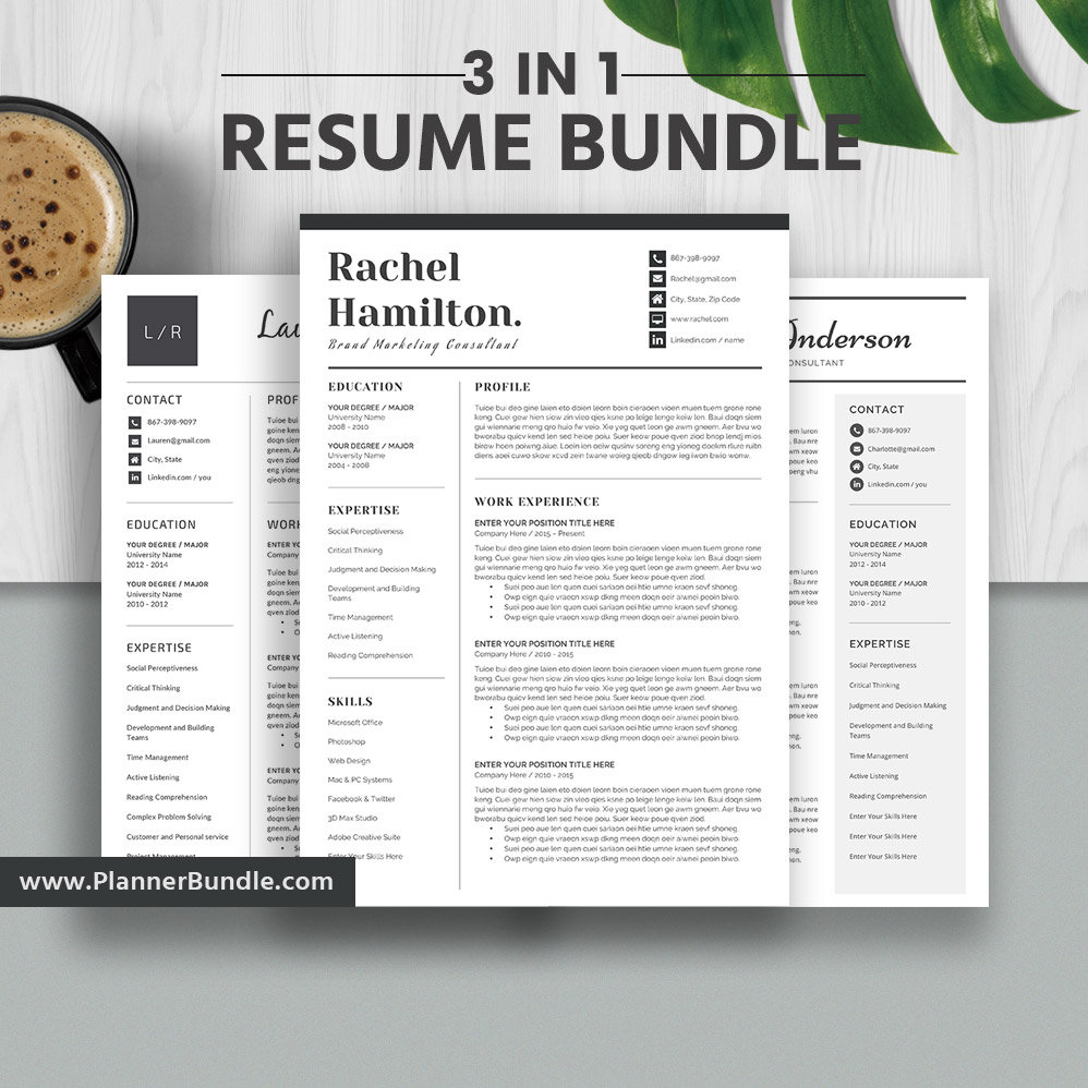 Resume Templates 2020 Simple Cv Templates 1 3 Page Resume Professional And Creative Resume Design Word Resume Instant Download The Rachel Rb