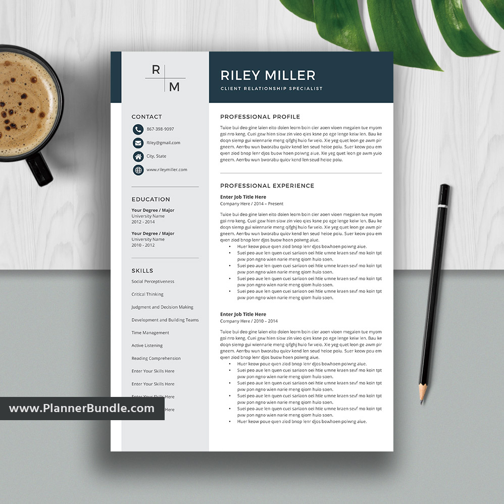 Best Resume Template Word, 2020 Editable CV Template Design, Job Resume  Template, Professional and Modern Resume, Cover Letter, Instant Download:  ...