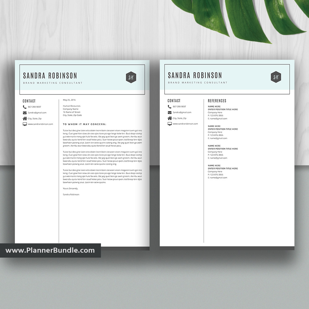 Simple Resume Template Modern Cv Template Student Word Resume