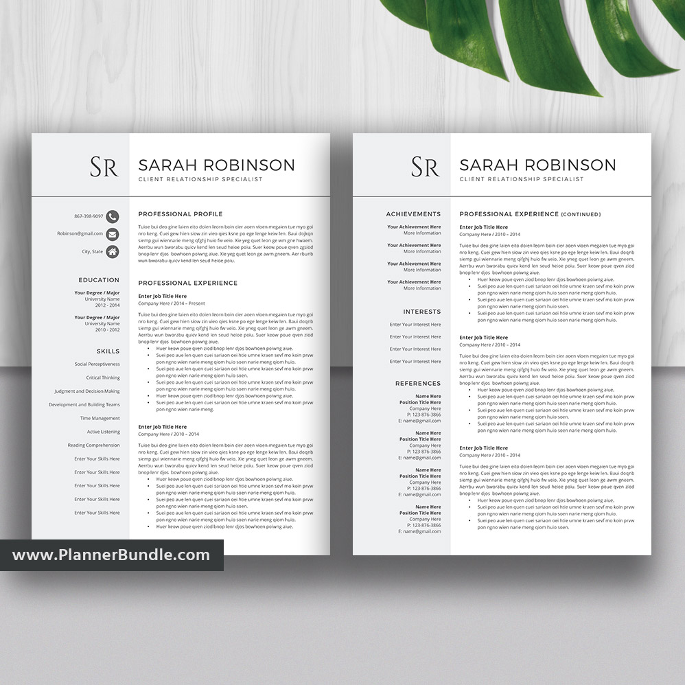 Simple And Clean Resume Template, Basic CV Template, Job