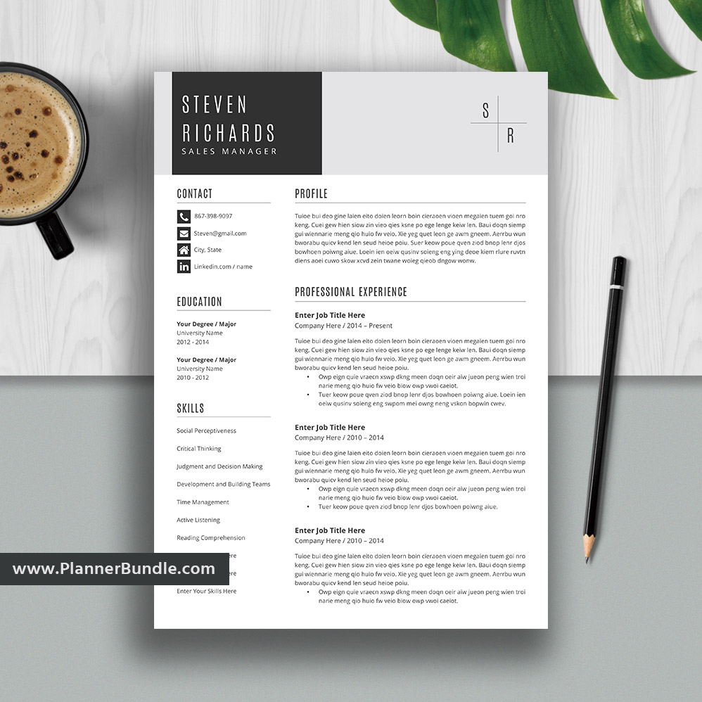 editable resume template 2019  curriculum vitae  cv layout