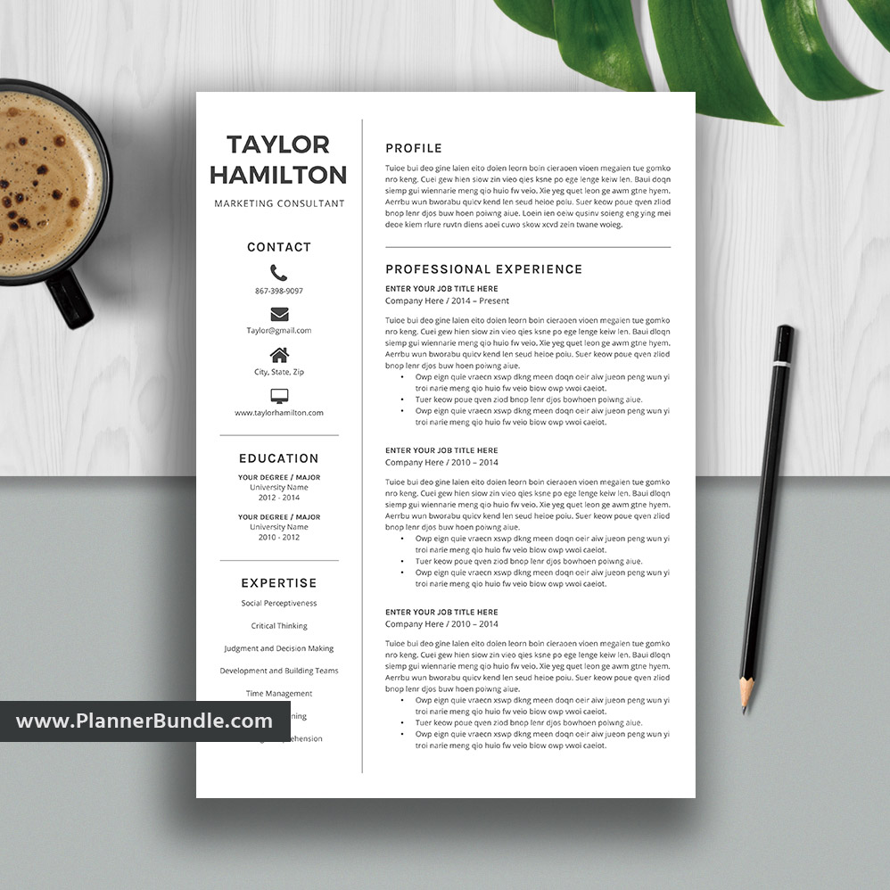 Editable Resume Template Simple Cv Template Professional Resume
