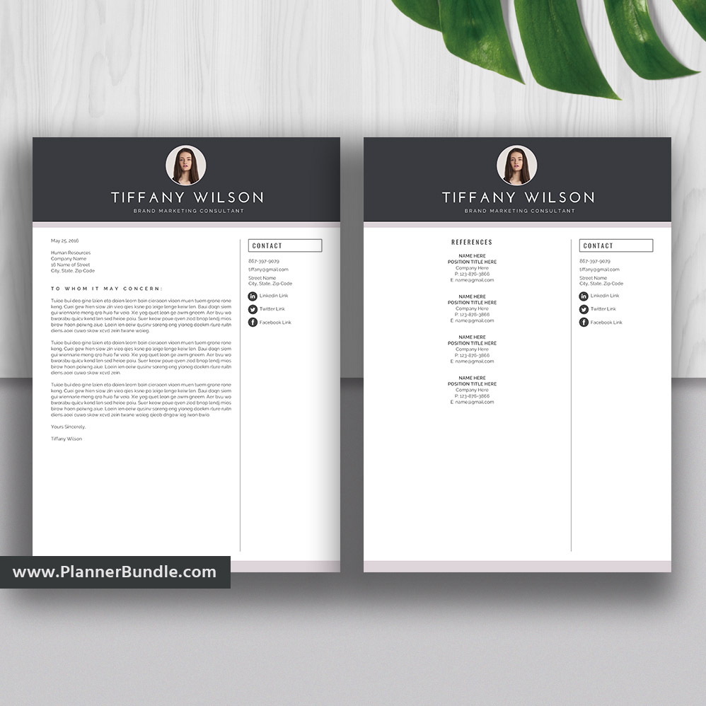 Professional Resume Template Graduate Student Cv Template Modern Resume Template Design Word Resume Cover Letter Reference Instant Download Tiffany Plannerbundle Com