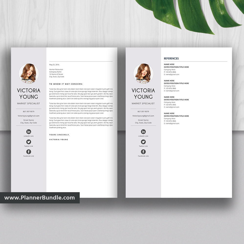 Professional Resume Template, 1-3 Page, Simple CV Template Word, Instant  Download for 2019 - 2020 College Students, Interns, Fresh Graduates:  Victoria